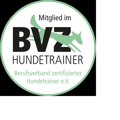 BVZ Hundetrainer Siegel - Mitglied im Berufsverband zertifizierter Hundetrainer e. V.