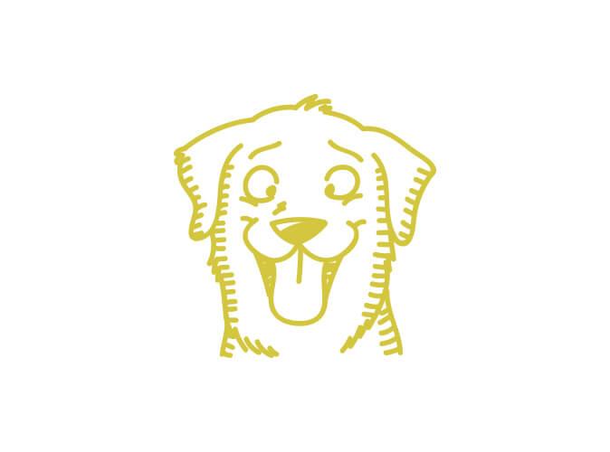 Illustration gute Laune Hund